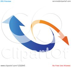 orange and blue logos | Clipart of a Blue and Orange Arrow Logo 4 - Royalty Free Vector ...