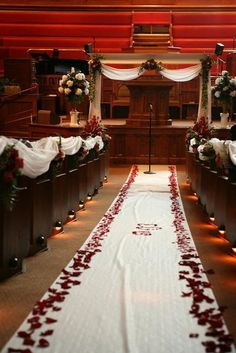 {Wedding Inspiration} Red and Black Ceremony Decor at The Broke-Ass Bride: Bad-Ass Inspiration on a Broke-Ass Budget