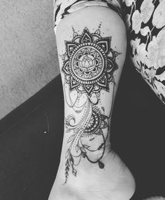My newest. Up to 6 tattoos now. #mandala #mandalatattoo #tattoo #girlswithtattoos #ankletattoo