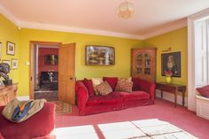 In the Limelight - Traditional, family heirlooms have been given a modern twist with brightly coloured walls