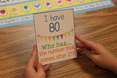 I Have, Who Has....Great whole group game to help students build their number sense! I love playing this at the beginning or end of our math workshop!! It's also a great filler if you need something meaningful to do in just 5 minutes!!