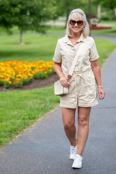 Styling a Utility Romper for Summer, Jumpsuit for women 50+, casual summer looks Fashion Outfits, Womens Fashion, Fashion Trends, Women Lifestyle, Summer Fashions, Summer Dresses, Eclectic Style, Summer Looks, Jumpsuits For Women