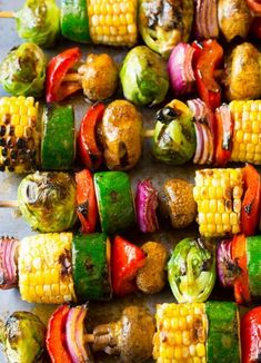 Grilled Fajita Vegetable Skewers | Food Recipes