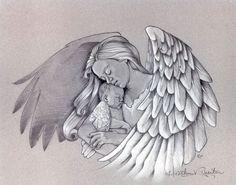 angel tattoos for women   Warrior angel tattoo drawing, Mary tattoo, angels, arm tattoos, rib ...
