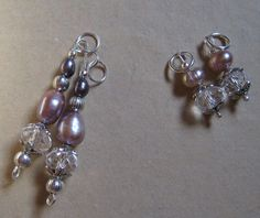 Earrings for a friend's special event in grey and pink