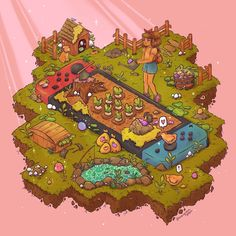 Stardew Valley by evergreenqveen -You can find indie and more on our website.Stardew Valley by . Stardew Valley Tips, Stardew Valley Fanart, 8bit Art, Pinturas Disney, Dibujos Cute, Video Game Art, Video Games, Kawaii Art, Aesthetic Art