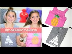 Tutorial to make your own graphic t shirts!  Love the stencils they picked!  #DIY #graphictshirts #brooklynandbailey