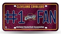"""Support your favorite team!!! CLEVELAND CAVALIERS LICENSE PLATE - #1 FAN $27.24  Show off your team spirit with this aluminum license plate! They are 1/16"""" thick and 6""""x12"""" in size. These are great for the car or even to display at home or the office. They feature bright vibrant colors that will catch anyone's eye! #cavs #cavaliers #cleveland #clevelandcavaliers #basketball #basket #ball #sport #net #slamdunk #orange #bounce #throw #court #board #nba #jump #jumping #throw #score #tall #dunk…"""