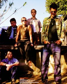 MIDDLE EARTHLINGS: Elijah Wood, Sean Astin, Dominic Monaghan, Billy Boyd & Orlando Bloom, Details, US, April 2001 #jrrtolkien #lotr