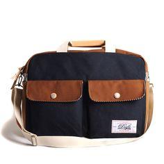 eu.Fab.com | Cross Bag Navy Brown. For weekend travels.