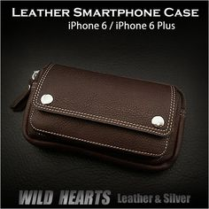 Leather iPhone6 iPhone6Plus Smartphone Case Mini Waist Belt Pouch Brown WILD HEARTS Leather&Silver ( ID sc2565r30 )  http://item.rakuten.co.jp/auc-wildhearts/sc2565r30/