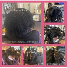 Hair Studio, Locs, Natural Hair Styles, Goddess Braids, Braided Pigtails