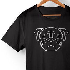 Camiseta Pug Geometric. Disponível em diversas cores e modelos no nosso site!