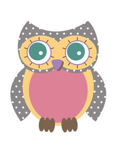Owl Template Printable | Daylights: Baby Girl Owl Shower & Printables