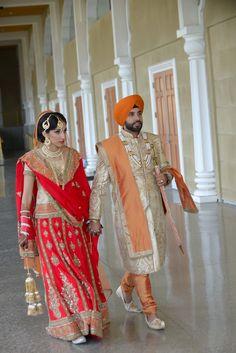 Punjabi Sikh wedding sherwani lehngha