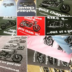 It's been a while since we have printed these awesome bike designs for Cooperb motorcycles! #screenprinting #motorcycle #tshirts #cooperb #colours check out their website! www.cooperbmotorcycles.co.uk