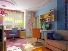 amazing colorful study room for your kids
