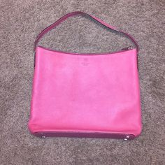 """Pink Kate Spade Shoulder Bag Super cute purse from Kate Spade! The color is a beautiful bubblegum pink, and the size estimated around 12""""x 12"""" x 2""""! In excellent condition, small marks noted in last picture! Includes Dust Bag! Any questions feel free to ask ☺️ kate spade Bags Shoulder Bags"""