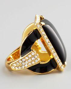 Rachel Zoe Square Ring, Black - Neiman Marcus