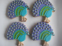 Peacock cookies! So lovely