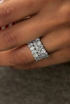 wedding bands for women white gold pave band diamonds