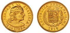 1/5 GOLD POUND - 1/5 LIBRA ORO. LIMA, PERÚ. 1915. XF+/ EBC+. NICE - BONITA.
