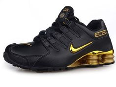 Chaussures Nike Shox NZ Noir/ Or - : Nike Chaussure Pas Cher,Nike Blazer  and Timerland