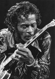 Chuck Berry at Madison Square Garden photographed by Bob Gruen 1971