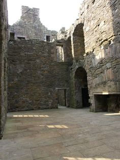 MacLellan's Castle, Dumfries and Galloway, Scotland. Great Hall