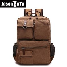 34.17$  Know more - Multi-pocket canvas backpack Khaki/Navy blue/Black/ Army Green Original Captain backpack Brand design laptop backpack FB1199   #magazineonlinebeautiful