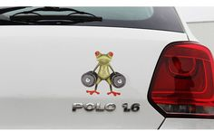 funny window decals for cars- 3D Peep Frogs window decals
