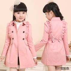 Cute Baby Girl, Cute Babies, Pink Trench Coat, Kids Coats, Baby Girl Dresses, Toddler Dress, Kids And Parenting, Barbie Dolls, Winter Outfits