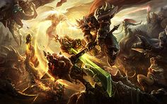 League of Legends is a game I have recently gotten into, a very intense game that I'm not so good at yet.