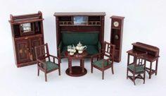 Antike Puppenstuben Möbel um 1915 -1925