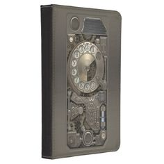 Steampunk Rotary Metal Dial Phone. Kindle 4 Case★ #Steampunk #Samsung #iphone #Cases #S6 #S7 #ipad #samsunggalaxys #victorian #phonecases #accessories #gosstudio