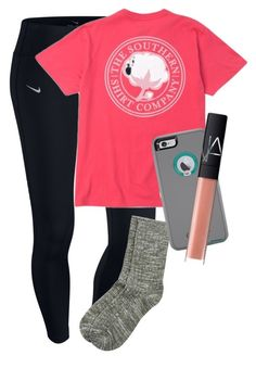 """""""chillin like a villian"""" by elizabethannee ❤ liked on Polyvore featuring NIKE, Accessorize and NARS Cosmetics"""