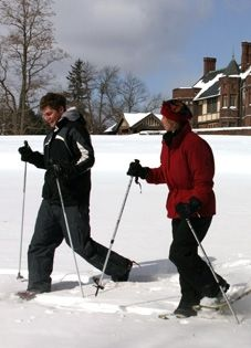 Snow shoeing at Blantyre