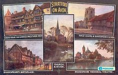 Shakespeare bio: Stratford-upon-Avon, England was where he was born.