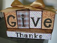 My Crafty Playground: Fall Blessings/Give Thanks Wood block decor