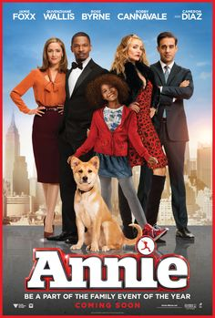 Mama Review:  Just saw a sneak peek (12/13/14) premiere of the new 2014 Annie movie one week before the opening this Friday, December 19th.  It's WORTH IT to go!  I wasn't expecting it to be as good as it was.  Our 3 daughters and their friends LOVED it.  Characters in the film keep checking on Annie, and she just keeps positive.  I thought it would be cheesier, but it was genuine and sweet.  ((I love that Sia's in the movie and was a part of the new songs, too))