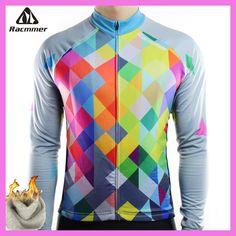 Racmmer Warm 2018 Pro Winter Thermal Fleece Cycling Jersey Ropa Ciclismo Mtb Long Sleeve Men Bike Wear Clothing Maillot #ZR-19