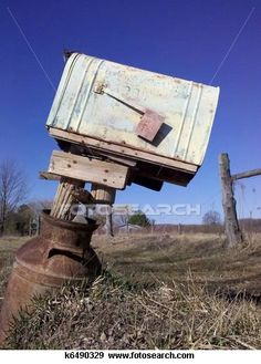 Mailbox in old can