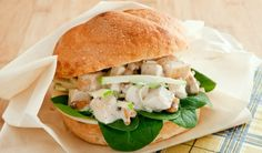 Chicken Salad Sandwich with Apples and Walnuts