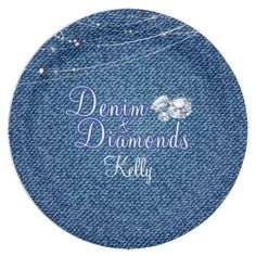 Denim and Diamonds Party Paper Plate