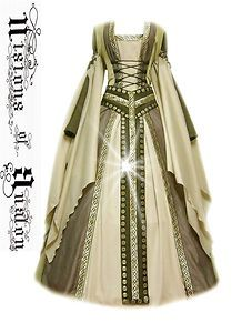 medieval dress costume medievaldress garb Renaissance larp celtic tudor fantasy