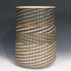 """Sage + Seagrass Diagonals"" 15"" x 10.5"" by Kari Lonning - Philadelphia Museum of Art Craft Show November 7-10, 2013 #finecraft"
