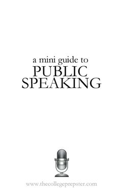 A Mini Guide to Public Speaking