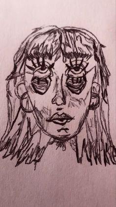 Indie Drawings, Psychedelic Drawings, Cool Art Drawings, Art Drawings Sketches, Dark Art Illustrations, Arte Grunge, Trash Art, Arte Sketchbook, Funky Art