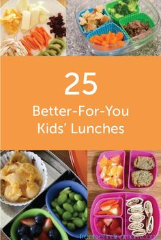 Get out of the lunch rut with these 25 better-for-you ideas that are sure to please the whole family. From roll ups to fun shaped sandwiches, this list has something for everyone.