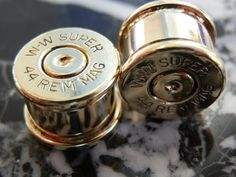 44 Magnum Ear Plugs by CurtisCopperConcepts on Etsy, $20.50
